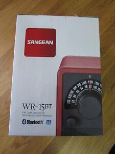 ST132 Sangean WR-15 BT rot UKW/MW/AUX-In/Bluetooth Radio ABVERKAUF