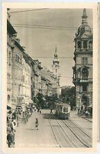 GRAZ HERRENGASSE cartolina animata non viaggiata tram