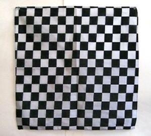 "Wholesale Lot 6 22""x22"" Black and White Checkered Bandana"