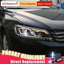 New For VW Passat Headlights assembly Bi-xenon Lens Projector LED DRL 2012-2015