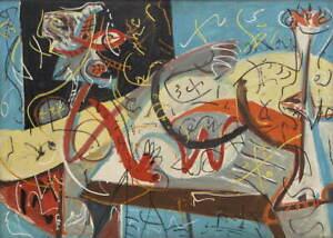 Jackson Pollock Stenographic Figure Canvas Print Paintings Giclee Canvas Print