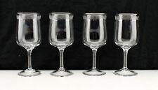 "Set of 4 Lenox Crystal Moonspun 7 1/8"" Water Goblets with Platinum Trim"