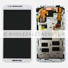 White Motorola Moto X 2nd Gen XT1092 LCD Display Touch Screen Digitizer + Frame