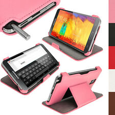Rosa Eco Pelle Case Cover per Samsung Galaxy Note 3 N9000 N9005 + Prot. Schermo