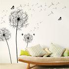 Waving Dandelion Butterflies Wall Decal Quote Decor Kids Room Vinyl Sticker