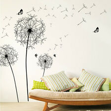 Waving Dandelion Sofa Background Wall Decal DIY Butterflies Living Room Sticker