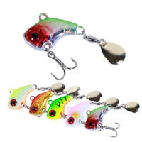 7pcs Fishing Lures Metal VIB Hard Baits Bass Trout & Spinner Blade Treble Hook