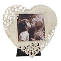 Vintage Style Rustic Metal Lace Love Heart Photo Frame 3 x 3 New Boxed FS18533