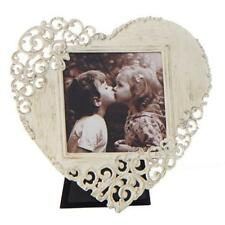Vintage Style Rustic Metal Lace Love Heart Photo Frame 3 X 3 Boxed