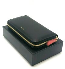 2a2804217bb4 $395 Paul Smith Leather Zip Around Black Women's Wallet