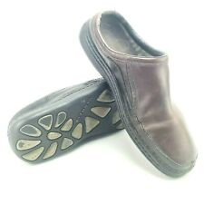 Merrell Karma Redwood Clog Shoes Mens US13 Brown Leather Slip On J43933 Casual
