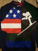 Polo Ralph Lauren Men Downhill Skier 92 American Flag Sweater Sweatshirt Small S