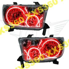 ORACLE Halo HEADLIGHTS for Toyota Sequoia 08-16 RED LED Angel Demon Eyes