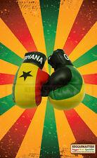 Ghana Flag Mini Boxing Gloves-Roots Reggae-hang in your car
