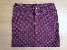Ladies Polka-Dot Burgundy Skirt Size 8 Autumn