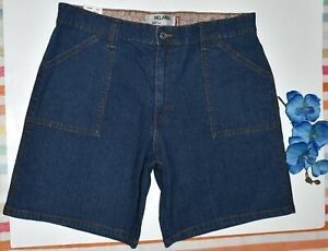 LEVIS 550 RELAXED BLUE BERMUDA JEAN SHORTS SIZE 16 ~NEW