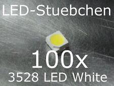 100x 3528 Kaltweiss SMD LED Gurtabschnitt