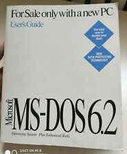 Microsoft MS-DOS 6.2 Operating System User's Guide Vintage book
