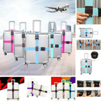 Adjustable Travel Luggage Baggage Suitcase Bag Packing Cross Strap Secure Belt