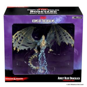 Blue Dracolich Premium Figure Boneyard D&D Icons of the Realms NIB