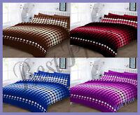 Hudson Patterned Duvet/ Pillow Case Bedding Set All Sizes