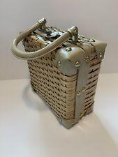 Vintage Wicker Vinyl handbag by Simon styled by Ernest Blum Hong Kong 1950s
