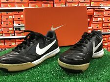 New Nike 5 Gato Indoor Soccer Shoes Black / White Size 1y New In Box