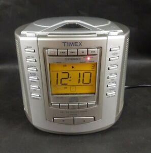 Timex AM/FM Stereo CD Digital Clock Radio Model T601S Nature Sounds