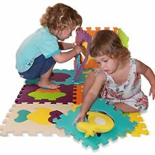 10PCS EVA Foam Play Mat Interlocking Numbers Floor Mat Baby Soft Alphabet