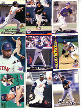 Pacific Baseball 1995-2001 Paramount Crown Omega Online Finish your Set Pick 50