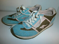 KANGAROOS BROWN PINK BLUE retro vtg ROOS Zipper Pocket Tennis Shoes 5.5