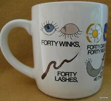 """Vintage Recycled Paper Products Mug Fabulous 40's Korea 3.5"""""""