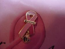 PINK RIBBON SURVIVOR PIN MEDAL, Survivor Dangler 1-30,   Designed by Survivor!