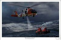 "USCG HH60 ""Jayhawk"" Helicopter Aviation Art Print 16"" x 24"""