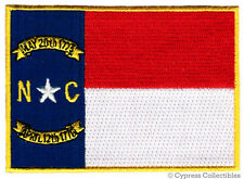 NORTH CAROLINA BIKER VEST PATCH iron-on EMBROIDERED STATE FLAG