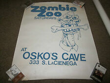 VINTAGE ZOMBIE ZOO SATURDAYS PUNK  / GOTH  CLUB SILKSCREENED PROMOTIONAL POSTER