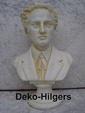 Büste Chopin Kopf Figur Stuckgips Skulptur Dekoration Säule Statue Crem 2060