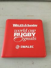 1999 WORLD CUP RUGBY GREATS WALES ON SUNDAY PLAYER CARDS 24/24 ALBUM WALLET EXC