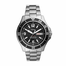 FOSSIL Herrenuhr Uhr FS5687 silber schwarz 10ATM