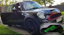 Mini One - JCW, R56, 55, 57, 58, 59 grill covers de-chrome, Red Gloss 2006-2013