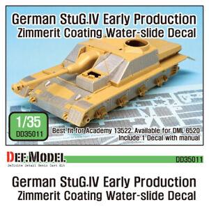 StuG.IV Zimmerit Decal set , DEF Model DD35011, SCALE 1/35