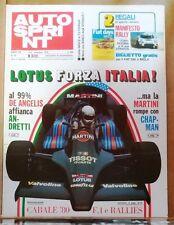 53424 Autosprint a. XIX n. 45 1979 - Lotus De Angelis Andretti - No Manifesto