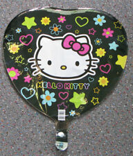 HELLO KITTY MYLAR BALLOON - HEART SHAPE - BIRTHDAY PARTY DECORATION - UNFILLED