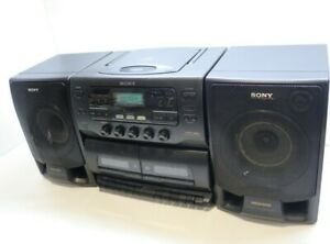Sony CFD-555L Vintage 90's Bookshelf Boombox CD & Cassette Stereo