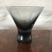 x4 Mid-Century Conical Smoked Glass Weighted Foot Cocktail Glasses