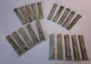 20 Stück Halbpfeiler, H0, TT - Höhe 9 cm