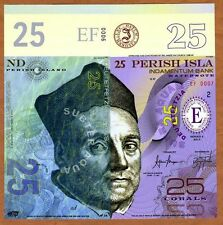 Perish Island (Mujand) 25 Corals 2015 UNC POLYMER Limited Issue Fantasy Note