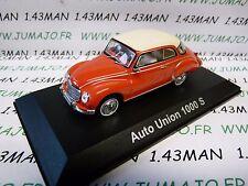 DDR7 voiture 1/43 test Allemagne 2013 AUTO UNION norev : Auto Union 1000 S Audi