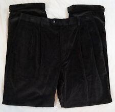 Linea Naturale Pleated Black & Brown Mens Pants Size 32 X 32 (A25#2012)