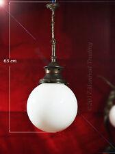 Superb 1930s large art deco School House Globe light pendent lantern chandelier